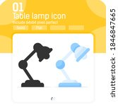 table lamp premium icon with...