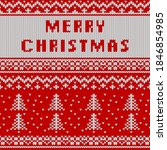 christmas and new year knitted...   Shutterstock .eps vector #1846854985