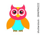 owl icon  colorful isolated on... | Shutterstock .eps vector #1846906222