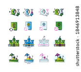 icons on all sorts of topics in ... | Shutterstock .eps vector #1846913848
