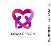love letter w logo with linear... | Shutterstock .eps vector #1846932442