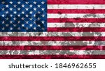 3d illustration flag of america....   Shutterstock . vector #1846962655