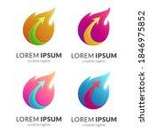 fire arrow logo template with... | Shutterstock .eps vector #1846975852