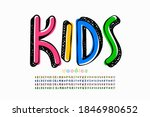 kids doodles style font  four... | Shutterstock .eps vector #1846980652