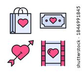 love   romance icons set ... | Shutterstock .eps vector #1846991845