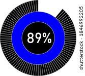 89  circle percentage diagram...