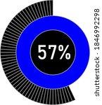 57  circle percentage diagram...