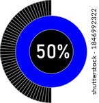 50  circle percentage diagram...