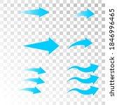 set of blue arrow showing air... | Shutterstock .eps vector #1846996465