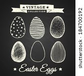 Hand Drawn Easter Eggs  ...