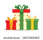 set of multi colored gifts in a ...   Shutterstock .eps vector #1847005405