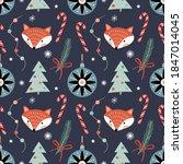 winter decorative seamless... | Shutterstock .eps vector #1847014045