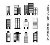 urban design over white... | Shutterstock .eps vector #184702082