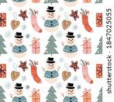 winter decorative seamless... | Shutterstock .eps vector #1847025055
