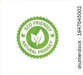 eco icon eco friendly logo  eco ... | Shutterstock .eps vector #1847045002