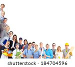 group of workers people.... | Shutterstock . vector #184704596