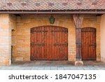Old Textured Big Doors  Old...