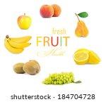 fruit color wheel | Shutterstock . vector #184704728