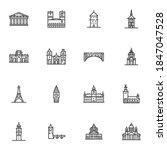 tourism cities landmarks line... | Shutterstock .eps vector #1847047528