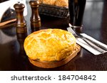 baked irish pie with minced meat | Shutterstock . vector #184704842