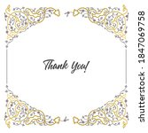 vector decorative frame.... | Shutterstock .eps vector #1847069758
