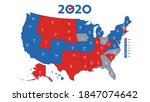 the electoral college. usa map...   Shutterstock .eps vector #1847074642