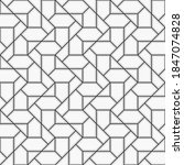 pattern with crossing thin... | Shutterstock .eps vector #1847074828