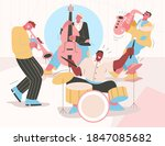 jazz band playing music at...   Shutterstock .eps vector #1847085682