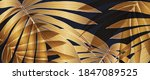 luxury gold palm leaves... | Shutterstock .eps vector #1847089525