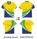 polo shirt with soccer 2014... | Shutterstock .eps vector #184709345