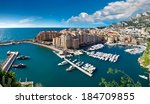 panoramic view of monte carlo... | Shutterstock . vector #184709855