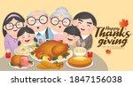 thanksgiving   christmas dinner ... | Shutterstock .eps vector #1847156038