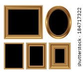 golden antique frames for your... | Shutterstock .eps vector #184717322