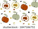 vector seamless pattern with... | Shutterstock .eps vector #1847186752