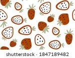 strawberry. vector seamless... | Shutterstock .eps vector #1847189482