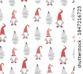 Cute Christmas Gnomes Seamless...