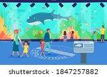 aquarium  vector illustration.... | Shutterstock .eps vector #1847257882