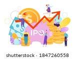 money investment for business... | Shutterstock .eps vector #1847260558