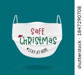merry quarantine christmas and... | Shutterstock .eps vector #1847290708