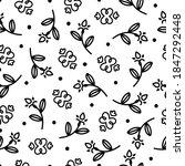 doodle paisley bandana seamless ... | Shutterstock .eps vector #1847292448
