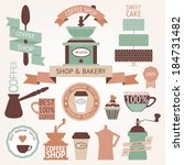 vector collection of decorative ... | Shutterstock .eps vector #184731482