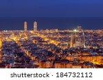 Barcelona Skyline Panorama At...