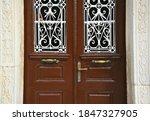 Neoclassical Wooden Door With...