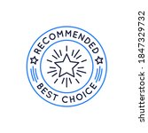 recommended badge  seal  label  ... | Shutterstock .eps vector #1847329732