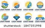 home solar energy logo design | Shutterstock .eps vector #1847351998