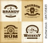 vintage alcohol labels set.... | Shutterstock .eps vector #184735835