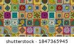 talavera pattern. indian... | Shutterstock .eps vector #1847365945