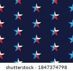 patriotic stars seamless... | Shutterstock .eps vector #1847374798