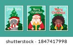 set of three cards merry... | Shutterstock .eps vector #1847417998