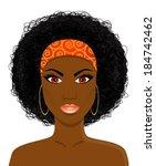 portrait of a beautiful african ...   Shutterstock .eps vector #184742462